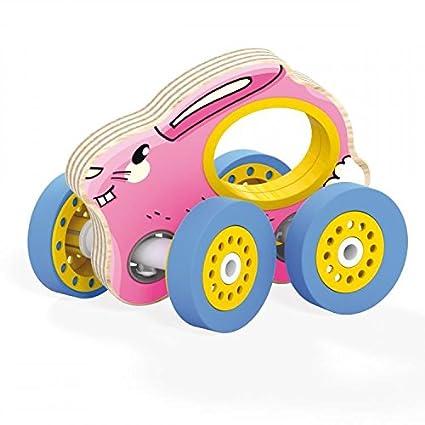 Quercetti – Vehículo Madera – Conejo – madera, plástico, ...