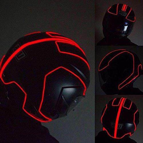 lightmode electron helmet kit motorbike helmet light kit red