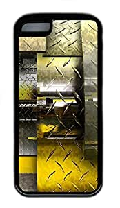 iPhone 5C Case Abstract Steel TPU Custom iPhone 5C Case Cover Black