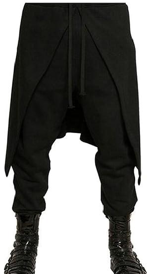 02d8c2e890fa M&S&W Men Elastic Waist Jogging Hip Hop Dance Sport Pants Punk Style Baggy  Harem at Amazon Men's Clothing store: