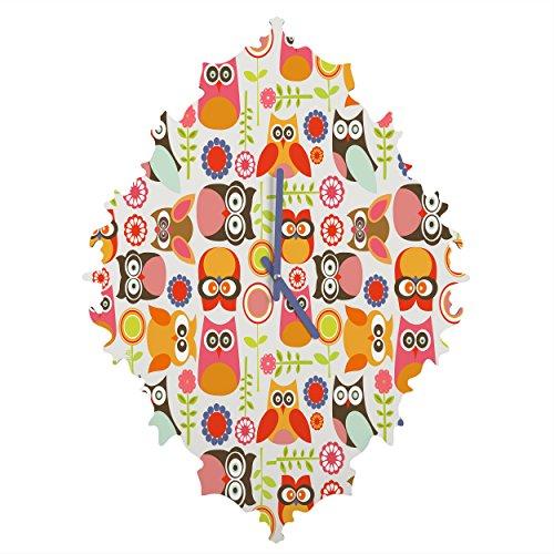 Deny Designs  Valentina Ramos, Cute Little Owls, Baroque Clock, Medium by Deny Designs