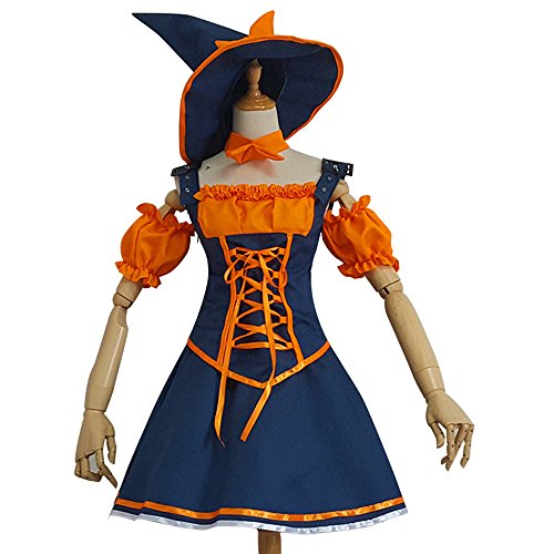 Ciel Infini Women's Nidalee Costume LOL Bestial Huntress Halloween Lolita Outfits,Navy,Tag 2XL=US L