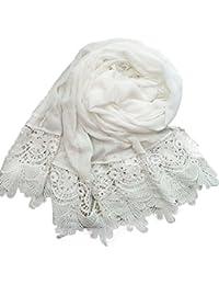 Women Lady Fashion Cotton Lace Long Scarf Wrap Shawl