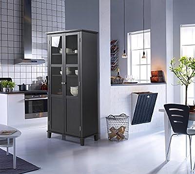 Homestar 2 Door Storage Cabinet, black