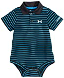Under Armour Baby-Boys Newborn Polo Yarn Dye. Bodysuit, Black, 0-3 Months