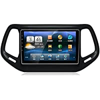 10 Full Touch LCD Screen Quad Core Android 5.1 HD Diskless Car DVD GPS Player for Jeep Compass 2017 Vehicle Multimedia GPS Player System Steering Control