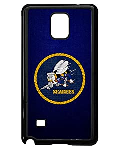 ExpressItBest Case for Samsung Galaxy Note 4 - US Naval Construction Force (CBs, SeaBees) by ExpressItBest.com