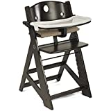 Keekaroo Kid's Height Right High Chair with Tray, Espresso