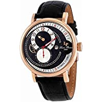 Lucien Piccard Supernova Black and Silver Dial Automatic Mens Watch 15157-RG-01-W