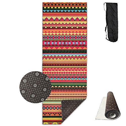 Yoga Mat Bohemia Style Pattern Comfortable Premium Mat Pilates Mat Non-Slip Base Extra (Dotted Batik)