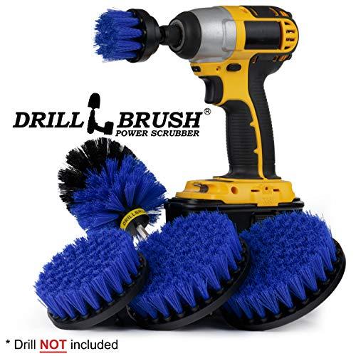 Boat Accessories - Cleaning Supplies - Drill Brush - Boat - Kayak - Canoe - Hull Cleaner - Algae - Barnacles - Carpet Cleaner - Deck Brush - Fiberglass - ()