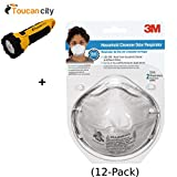 3M Household Cleanser Odor Respirator Mask ((2-Pack)(Case of 12)) 8246PA1-A and Toucan City LED flashlight