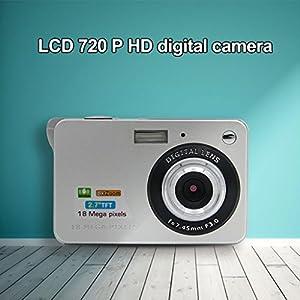 Camera Camcorders,18 Mega Pixels 3.0MP CMOS sensor 2.7 inch TFT LCD Screen HD 720P Digital Camera(Silver)