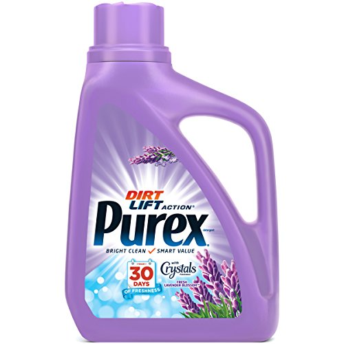 Purex Liquid Laundry Detergent with Crystals Fragrance, Fresh Lavender Blossom, 75 oz (50 loads) - Load Crystal