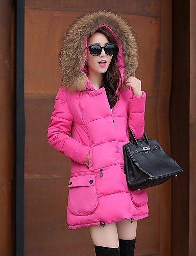 Hooded Gray Blue Casual Black Solid Red 2XL Parka Green Sleeve Women's YRF Pink Coat Vintage Long LIGHTGRAY 0q7xC