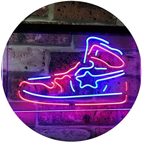 (ADVPRO Sneaker Shoe Sport Running Store Shop Display Dual Color LED Neon Sign Blue & Red 12 x 8.5 Inches st6s32-i3071-br)