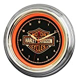 Harley-Davidson Bar & Shield LED Clock, Long