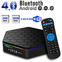 T95Z plus Android TV BOX Android 7.1 Amlogic S912 Octa Core 3GB DDR3 32GB eMMC Dual 2.4/5.0 GHz Wifi support 1000M LAN Ethernet 64Bit H.265 Bluetooth 4.0 UHD 4K HD Player