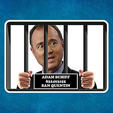 Adam Schiff In Prison Vinyl Car Bumper Decal Sticker WALL ART Restickables