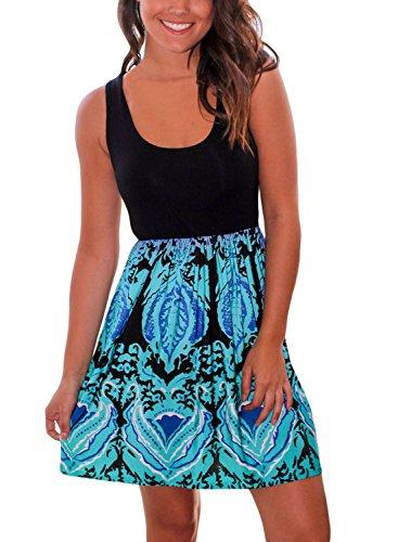 Aqua Sleeveless Dress - 2