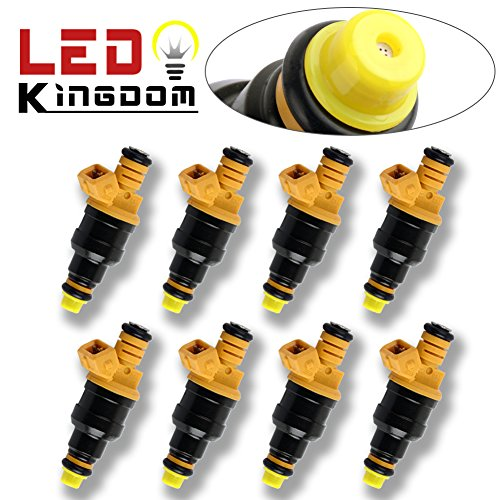 LEDKINGDOMUS 8X Flow Matched Fuel Injector Standard Flow Motor Products Fit for Ford 4.6 5.0 5.4 5.8 0280150943