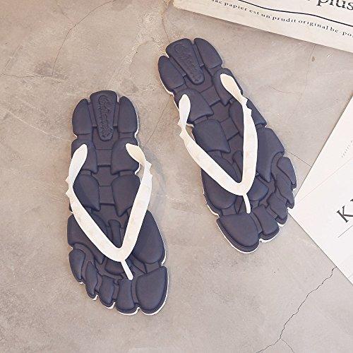 personalizzati maschio sandali estate giovane Pantofole sandali creativi studenti fankou bianco blu estate 41 qX4w6H