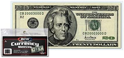 100pcs Currency Paper Money Bill Sleeves Holders Protector 8.5*17.LUPLUS