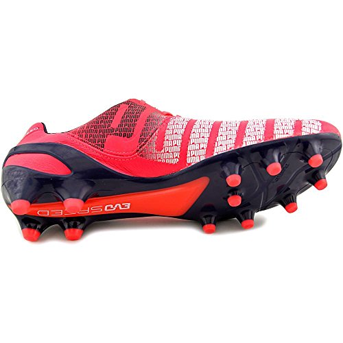 Puma Mens Evospeed 1,3 Fast Mark Fotboll Cleat Ljusa Plasma-vit-peacoat
