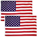 Besteek United States Flag 3x5 Ft Printed Stars and Stripes US American Flag Old Glory can fly handsomely in the breeze on Memorial Day, the Fourth of July, and Veteran's Day, but why not fly these stars and stripes every day of the year? Show your A...