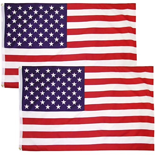 Besteek United States Flag 3x5 Ft Printed Stars and Stripes