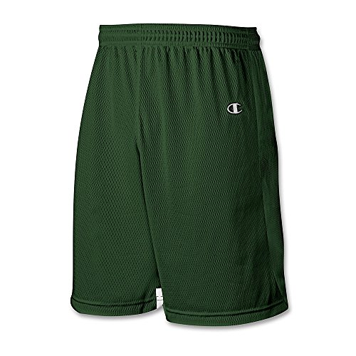 Champion Double Dry® Mens Lacrosse Shorts # LX45 Team Dark Green/White