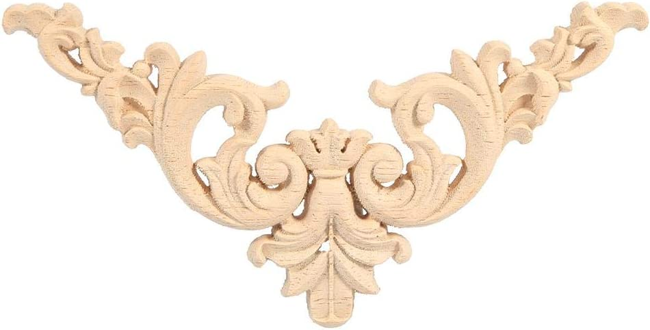 4PCS Applique de Forme de Fleur de Meubles d/écoration Non Peinte Wytino Applique de Meubles Onlay en Bois sculpt/é en Bois caoutchout/é 12 * 12