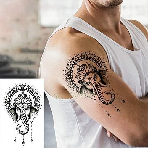 tzxdbh Pegatinas de Tatuaje a Prueba de Agua Ganesha Dios Indio ...