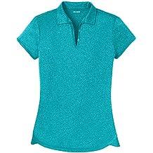 Joe's USA DRI-Equip Ladies Moisture Wicking Heather Golf Polos in XS-4XL