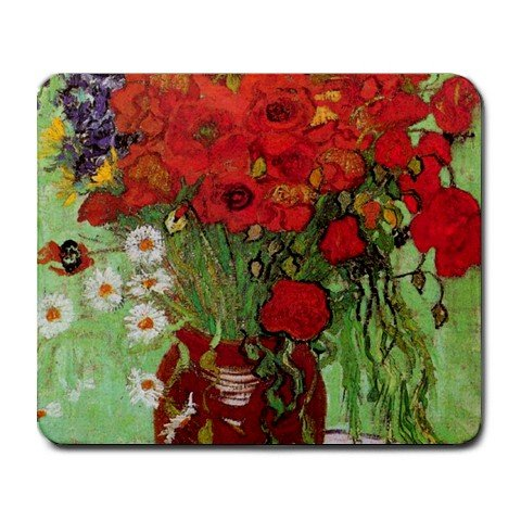 - Still Life Red Poppies and Daisies By Vincent Van Gogh Mouse Pad by MyHeritageWear