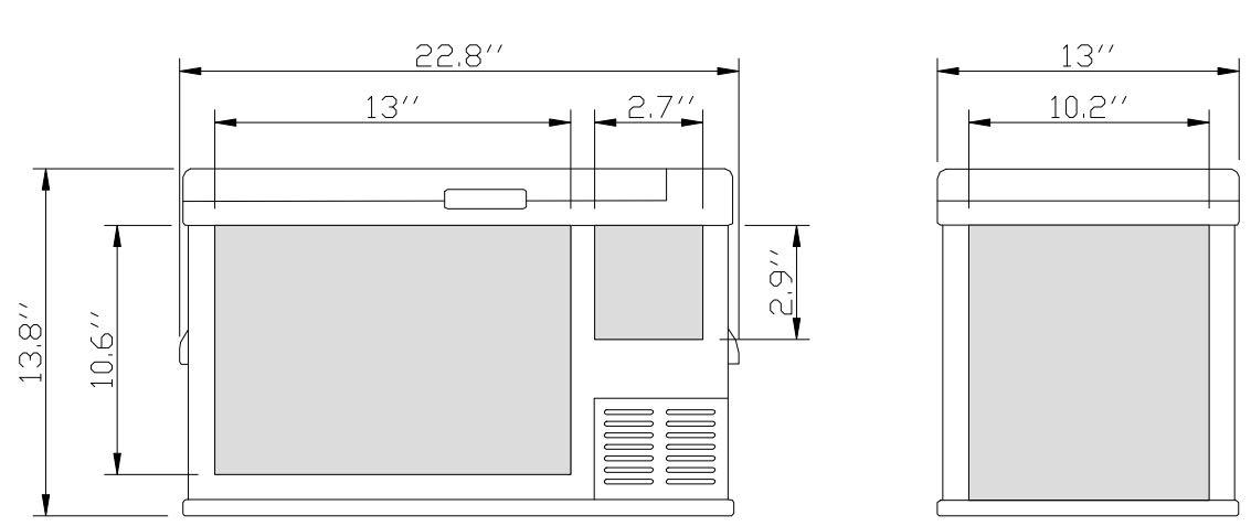 Ausranvik 26-Quart Portable Fridge Car Refrigerator Car Fridge Car Freezer -4°F ~ 68°F - 12V/24V DC by Ausranvik (Image #7)