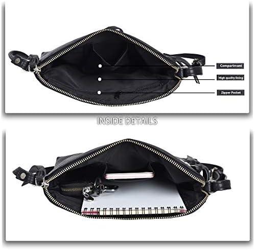Genuine Leather Crossbody Handbag for Women - Shoulder bag for Womens Handmade by means of LEVOGUE