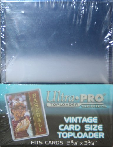 3X4 ULTRA PRO VINTAGE CARD SIZE TOPLOADERS - 5 PACKS OF 25 ()
