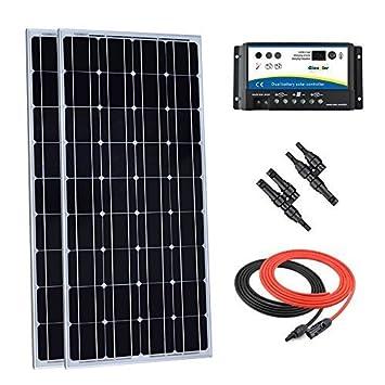200 Watt Solaranlage Solarmodul 12V Wohnmobil 30 Ampere Laderegler