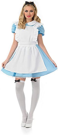 Fun Shack Azul Alicia Tradicional Disfraz para Mujeres - S: Amazon ...
