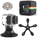 Polaroid Cube ACT II HD 1080p Lifestyle Action Video Camera (Black) Gift Bundle + Waterproof Case + Suction Mount + Flexi Pod Mount + Magnet Adapter