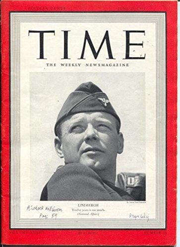 Time 6/19/1939-Lindbergh cover-Dragon Lady panel-Milt -