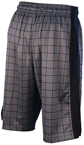Jordan Men' s Nike Dri-Fit AJ IV stencil shorts-dark grigio/black-small