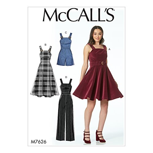 - McCall's Patterns M7626D50 Dresses, Belt, Romper, and Jumpsuit with Pockets