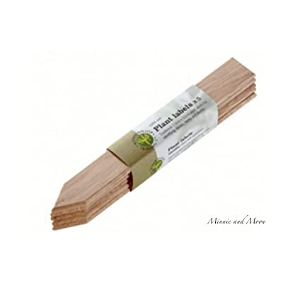 Nether Wallop Trading British Reusable Oak Plant Markers (Set of 5) : Garden & Outdoor