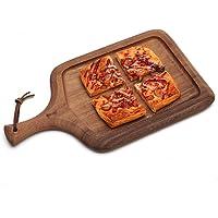 Zunruishop Platos para Pizza Bandeja de Madera Natural