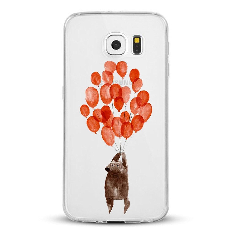( No para S7 ) Samsung Galaxy S7 Edge Carcasa , Qissy® TPU silicona pintada Funda para Samsung Galaxy S7 Edge suave del gel de Flexible Anti Rasguños Casco
