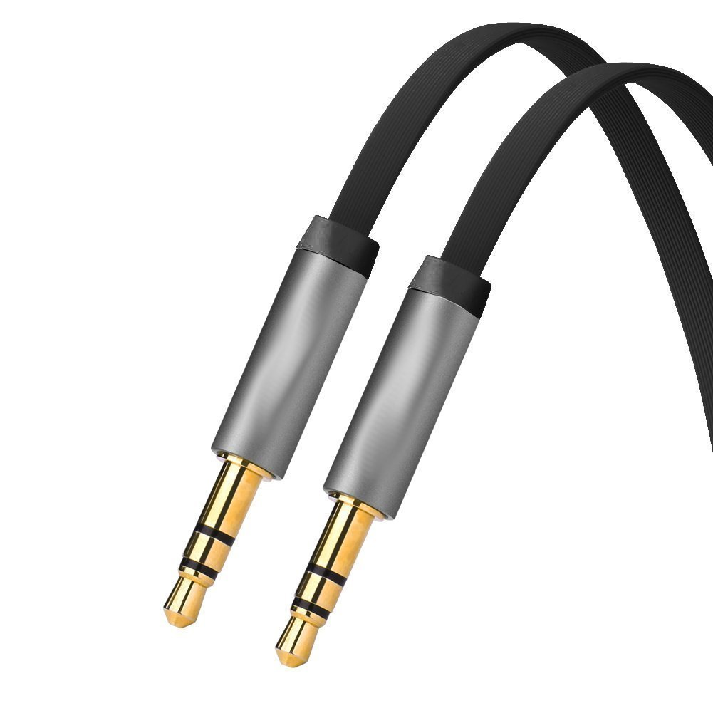Hilai Ligne Audio-3, 5 mm à 3, 5 mm Gold AUX Jack Cable Fil IPOD Audio MP3 1 m de Longueur 5 mm à 3