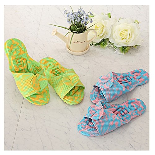 Collection Cobblestone 1 Light ([1 + 1] EVA Acupuncture House Slippers Pink+Yellow for Men and Women, EVA material, Made in Korea)