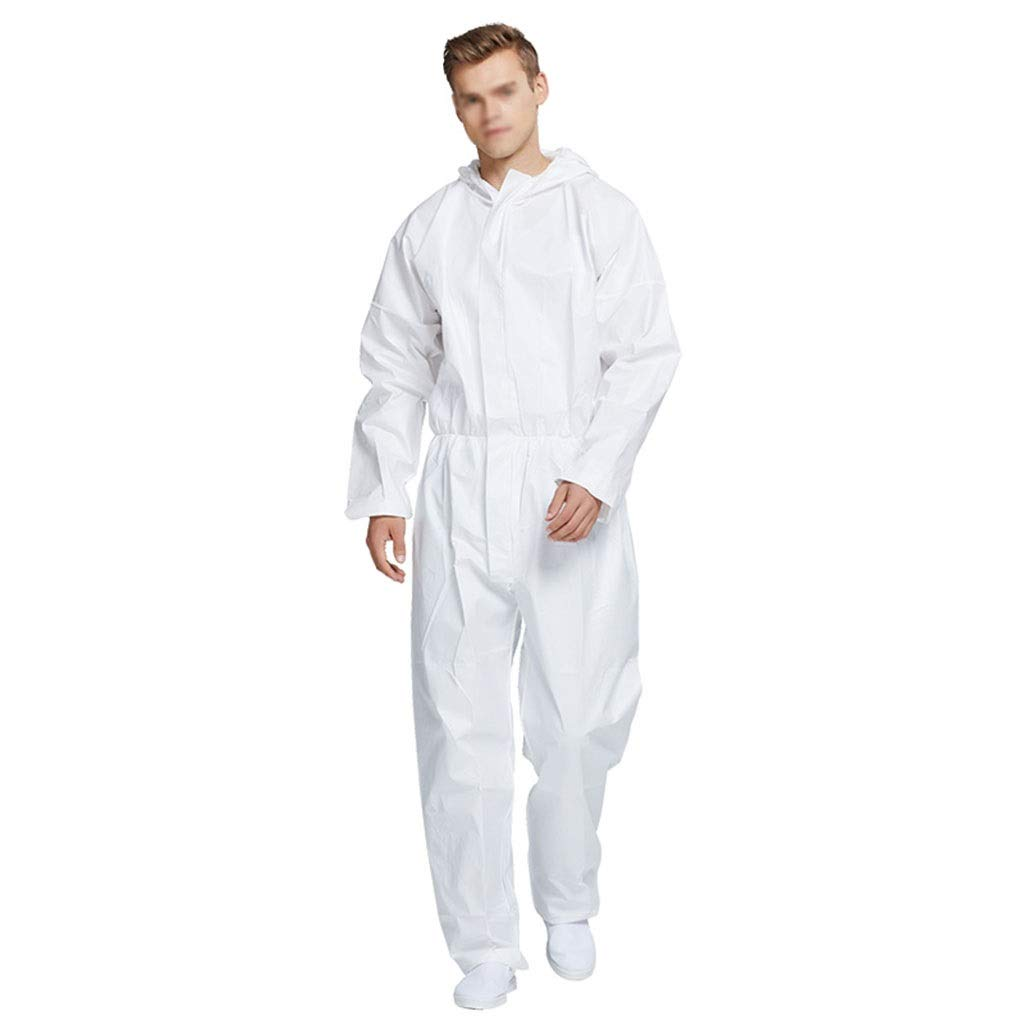 YYTL Disposable Coveralls, Dustproof Protective Clothing, Suitable for Food Processing in Clean Workshop, White-Three Pieces (Size : XL) by YYTL